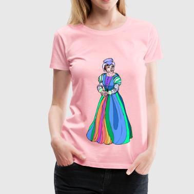 Shakespeare characters Lady Macbeth 2 (colour) - Women's Premium T-Shirt