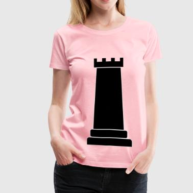 Rook Chess Piece - Women's Premium T-Shirt