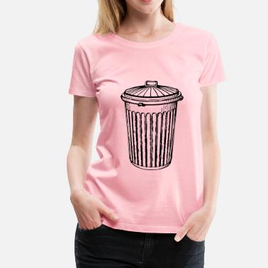 Trash Can trash can - Women's Premium T-Shirt