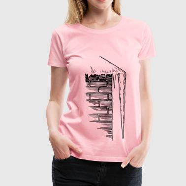 Icicle & Icicle line art - Women's Premium T-Shirt