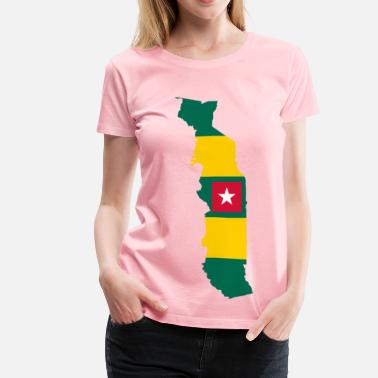 Togo Togo Flag Map - Women's Premium T-Shirt