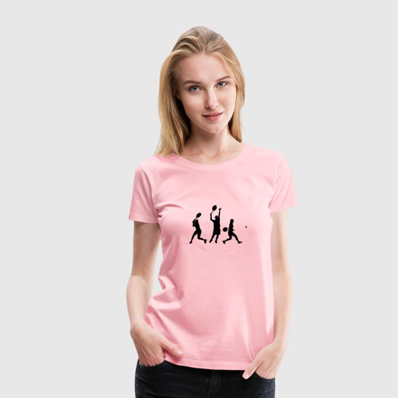 tennis players silhouette - Women's Premium T-Shirt