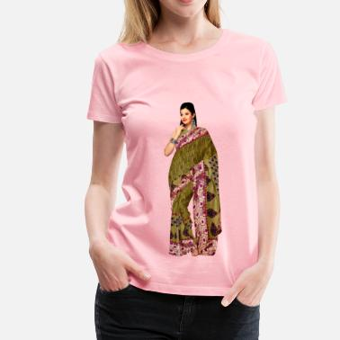 Saree Woman in saree 3 - Women's Premium T-Shirt