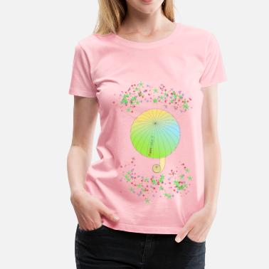Rainbow Text umbrella with text rainbow and colorful stars - Women's Premium T-Shirt