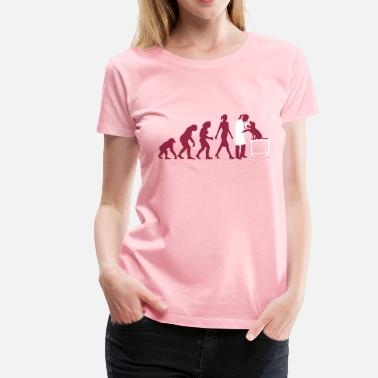 Veterinary evolution_of_woman_tierarztin02_2c - Women's Premium T-Shirt