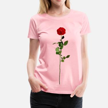 Roses Are Red Red rose - Women's Premium T-Shirt