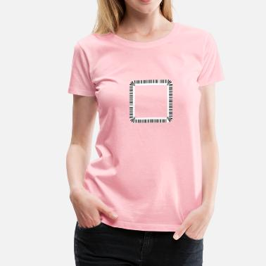 Round Square Piano Keys Rounded Square - Women's Premium T-Shirt