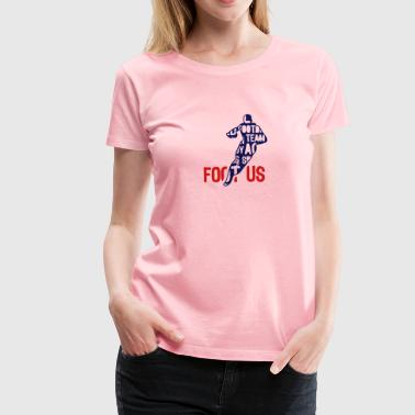 football usa text 204 words - Women's Premium T-Shirt