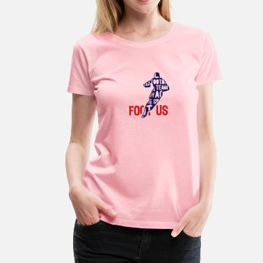 Word Usa football usa text 204 words - Women's Premium T-Shirt