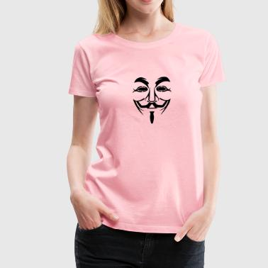 Anonymous Mask - Women's Premium T-Shirt