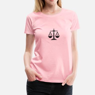 Lawyer Symbol Gender Equality Icon 2 - Women's Premium T-Shirt