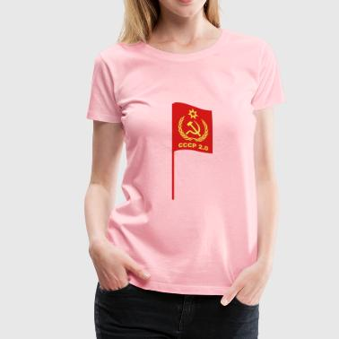 cccp flag - Women's Premium T-Shirt