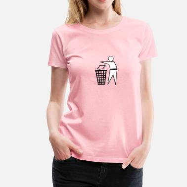 Garbage Human Recycle Bin Person Outlin - Women's Premium T-Shirt