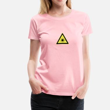 Laser Laser Beam Warning Sign - Women's Premium T-Shirt