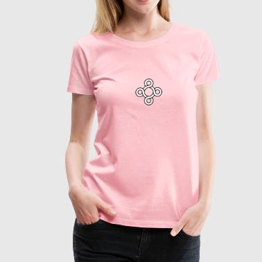 Loopy Circle Black and White - Women's Premium T-Shirt