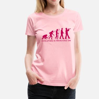Evolution Of Marching Band evolution marching band trumpet player_112015_b_1c - Women's Premium T-Shirt