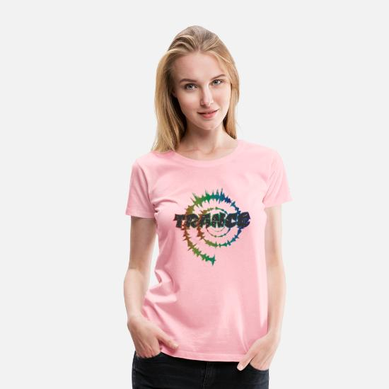 House T-Shirts - Trance Disco Techno House Festival Dancing Party - Women's Premium T-Shirt pink