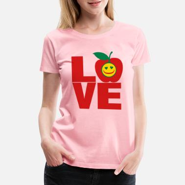 Kiwi ❤✦ټI Love Apple-Eat More Apple-Best Fruitټ✦❤️ - Women's Premium T-Shirt