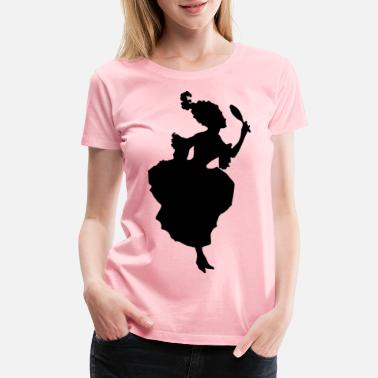Century 18th Century Fashion Silhouette - Women's Premium T-Shirt