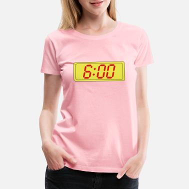 Clock Digital Clock - Women's Premium T-Shirt