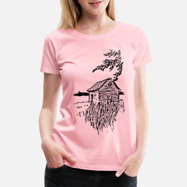 Plain Cabin On The Plains - Women's Premium T-Shirt