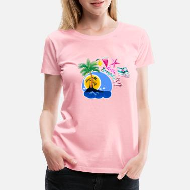 Beachparty hellosummer4 - Women's Premium T-Shirt