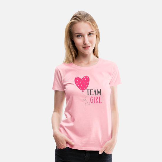 Shower T-Shirts - TEAM GIRL - Women's Premium T-Shirt pink