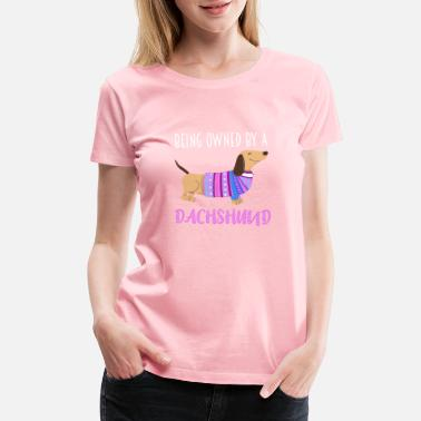 Wiener Quotes Dachshund Wiener Dog Gift Doxie Funny Quote - Women's Premium T-Shirt