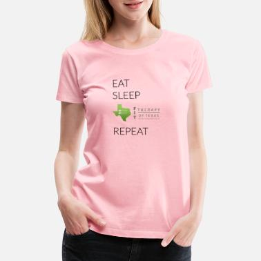 Eat Sleep eat sleep repeat - Women's Premium T-Shirt