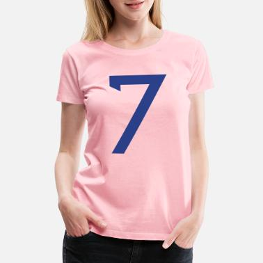 Jersey Number ★Cool Number Seven 7-Best Uniform Number-7★ - Women's Premium T-Shirt