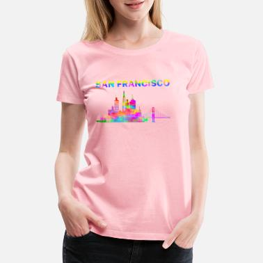 133d94ca San Francisco San Francisco T shirts, San Francisco Watercolor - Women's