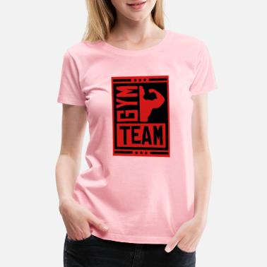 No Pain No Gain gym_team_su2 - Women's Premium T-Shirt