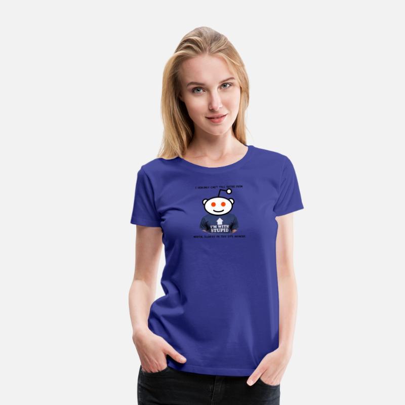 Reddit! Satire or Mental Illness Women's Premium T-Shirt - royal blue
