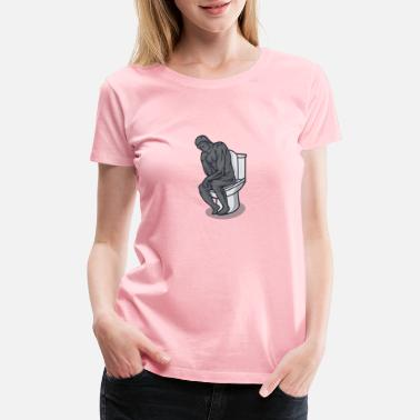 Wc The Restroom Thinker - Women's Premium T-Shirt