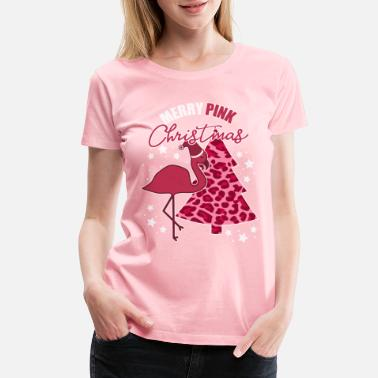 Pink Flamingo Ugly Christmas Funny Quote - Women's Premium T-Shirt