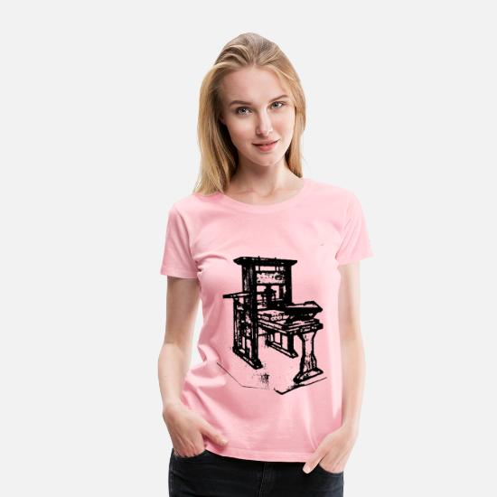 Worry T-Shirts - Old printing press - Women's Premium T-Shirt pink