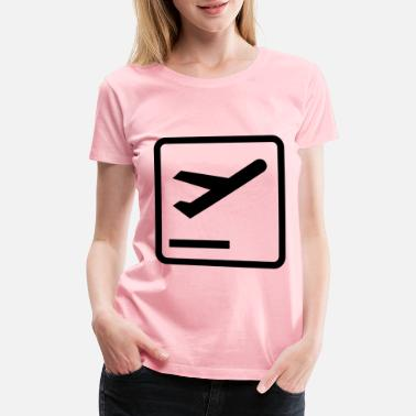 Departure Departures Pictogram - Women's Premium T-Shirt