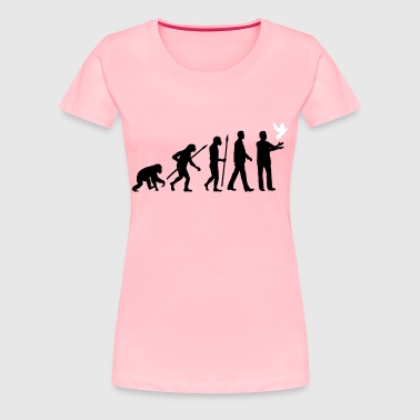 evolution_of_man_taubenzuechter03_2c - Women's Premium T-Shirt