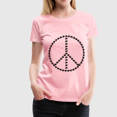 Peace Dove Sign Black - Women's Premium T-Shirt