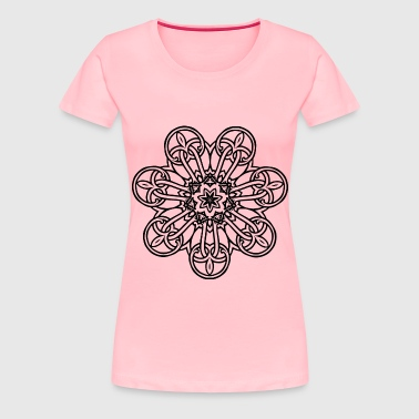 Interlocking Geometric Design 12 - Women's Premium T-Shirt