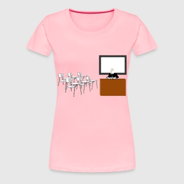 Teacher In Classroom - Women's Premium T-Shirt