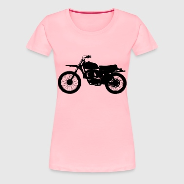High Detail Motorcycle Silhouette - Women's Premium T-Shirt
