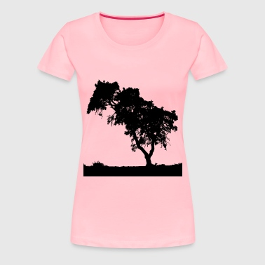 Father And Daughter Minus Father And Daughter Landscape Silhouette - Women's Premium T-Shirt