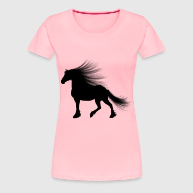 Long Haired Horse Silhouette - Women's Premium T-Shirt