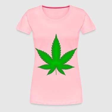 Marijuana Leaf Green - Women's Premium T-Shirt