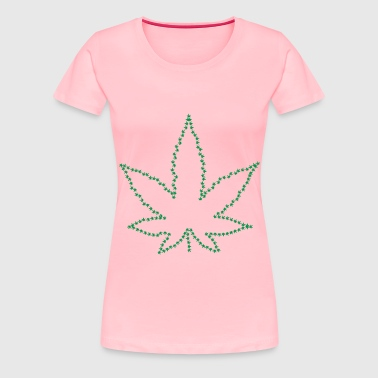 Marijuana Fractal Outline - Women's Premium T-Shirt