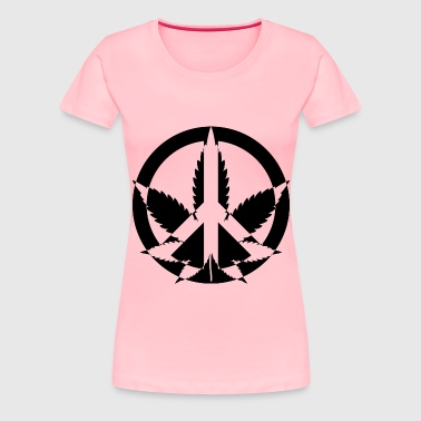 Peace Marijuana - Women's Premium T-Shirt