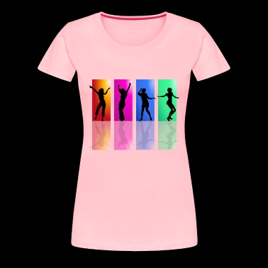 Happy dancing girls. - Women's Premium T-Shirt