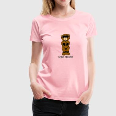 Beary Naughty Bondage Bear - Women's Premium T-Shirt