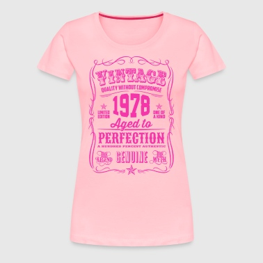 Vintage 1978 Aged to Perfection 38th Birthday - Women's Premium T-Shirt